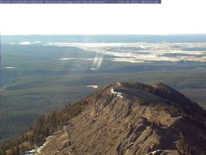 The Yellowstone caldeira...view from the webcam on  the top of the  mount Washburn