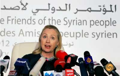 Hillary Clinton, Friend of the Syria people? Like the USA is friends of the people of Iraq, Afghanistan, Pakistan, Libya, Somalia, Yemen...?